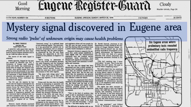 The Still Unsolved Mystery of the Eugene Signal