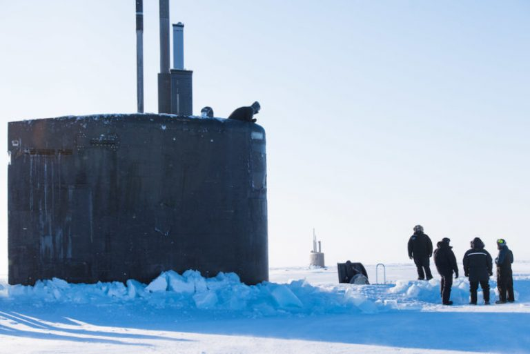Onboard a US NAVY NUCLEAR SUBMARINE Under ARCTIC ICE