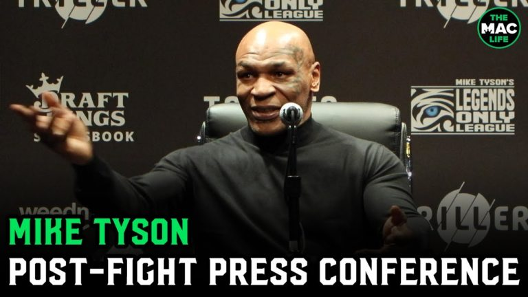 """Mike Tyson reacts to Roy Jones Jr. fight: """"I think of myself as a roaring gladiator, like a ruler"""""""